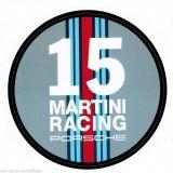 Porsche 911 Aufkleber Porsche Martini Racing in Rund 60x60mm Neu rar selten